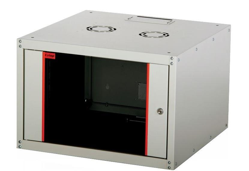 Телекоммуникационный шкаф Estap ECOline 19 (16U 600x450 ECO16U450GF1), Серый