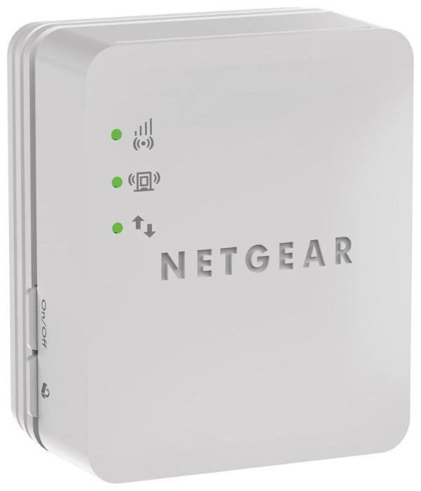 Адаптер Wi-Fi NetGear Повторитель беспроводного сигнала WN1000RP-100PES, белый