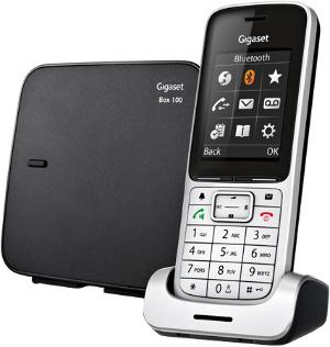 Радиотелефон Gigaset SL450, серебристый/черный SL450 SYS