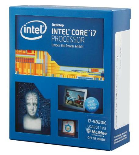 Процессор Intel Core i7-5820K Haswell-E (3300MHz, LGA2011-3, L3 15360Kb, Retail)