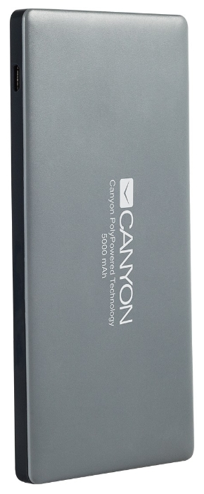 Аксессуар для телефона Canyon мобильный аккумулятор CNS-TPBP5 (H2CNSTPBP5DG) 5000 mAh, тёмно-серый