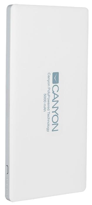 Аксессуар для телефона Canyon мобильный аккумулятор CNS-TPBP5 (H2CNSTPBP5W) 5000 mAh, белый