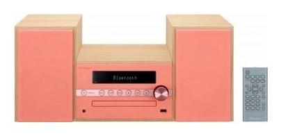 Музыкальный центр Pioneer X-CM56-R, красный