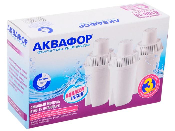 Фильтр для воды Akvafor- Модуль сменный В100-15 (комплект 3 шт) В100-15 к-кт 3шт.
