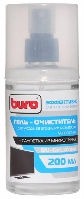 Чистящая принадлежность для ноутбука BURO BU-Gel_screen (салфетка и гель)