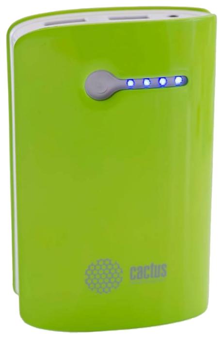 Аксессуар для телефона CACTUS Мобильный аккумулятор CS-PBX3-7800WG (7800 мAч), зеленый/белый