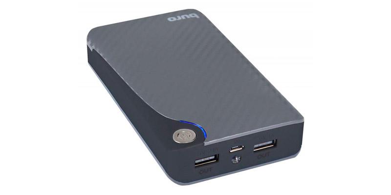 Аксессуар для телефона BURO Мобильный аккумулятор RA-11000 (11000 mAh), серый/черный
