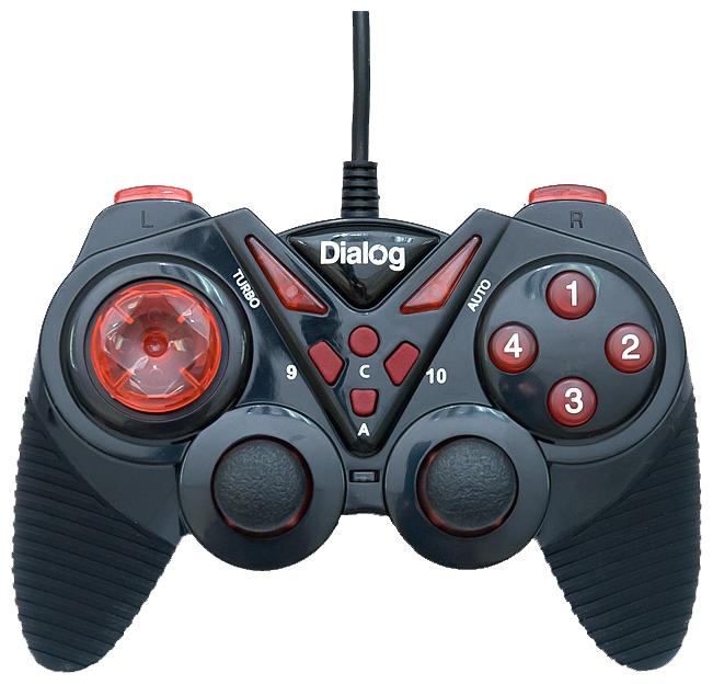 Геймпад Dialog Action GP-A13, черно-красный