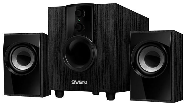 Компьютерная акустика Sven MS-107, черная MS-107 Black