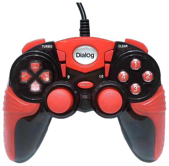 Геймпад Dialog GP-A15, красно-черный GP-A15 Black-Red