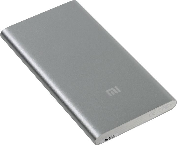 Аксессуар для телефона Xiaomi Внешний аккумулятор Mi Power Bank 5000 (5000 mAh), серебристый