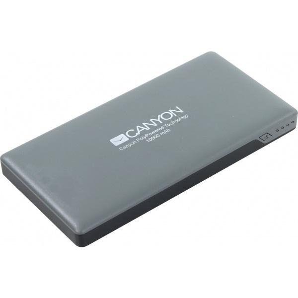 Аксессуар для телефона Canyon Внешний аккумулятор CNS-TPBP10DG, темно-серый