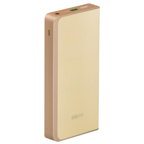 Аксессуар для телефона Внешний аккумулятор InterStep PB12000QCW (IS-AK-PB1200QCW-000B201) бежевый