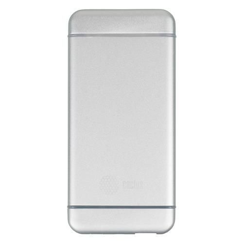 Аксессуар для телефона CACTUS Мобильный аккумулятор CS-PBMS029-10000 (10000 мAч), серебристый CS-PBMS029-10000AL