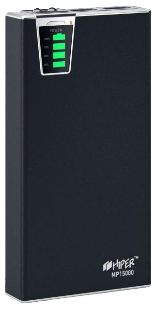 Аксессуар для телефона Hiper Внешний аккумулятор MP15000 (15000 mAh), черный MP15000 BLACK