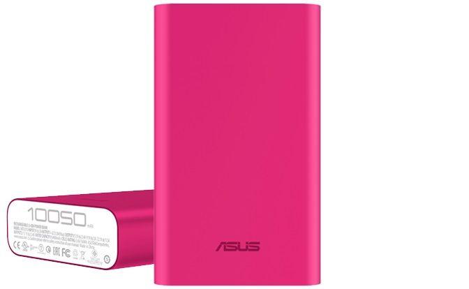 Аксессуар для телефона ASUS Мобильный аккумулятор ZenPower ABTU005 10050mAh, розовый 90AC00P0-BBT030