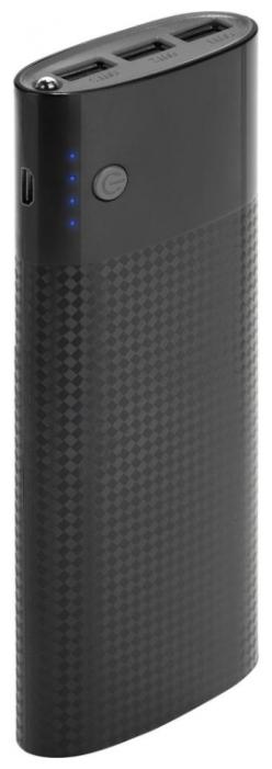 Аксессуар для телефона InterStep Внешний аккумулятор PB150003U (15000 мАч), черный PB150003U Black