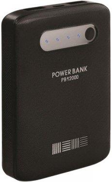 Аксессуар для телефона InterStep Внешний аккумулятор PB120002U (12000 мАч), черный
