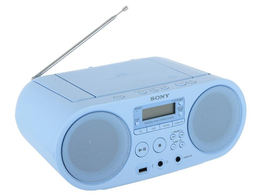 Магнитола SONY ZS-PS50CP, голубая ZS-PS50CP Blue
