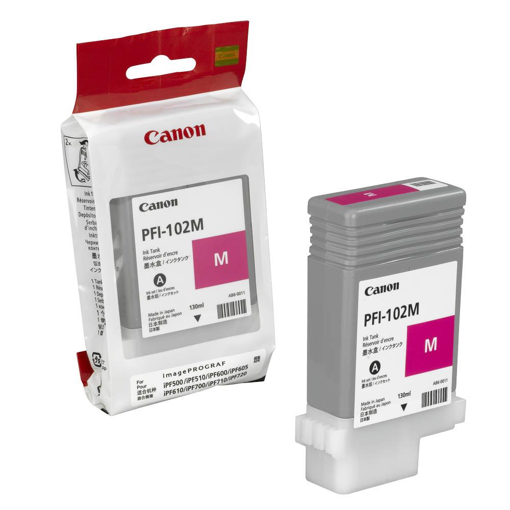 Картридж Canon PFI-102 M, Пурпурный 0897B001