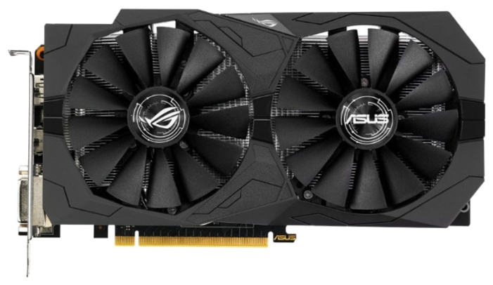 Видеокарта GeForce ASUS GeForce GTX 1050 1442Mhz PCI-E 3.0 2048Mb 7008Mhz 128 bit 2xDVI HDMI HDCP Strix OC Gaming STRIX-GTX1050-O2G-GAMING