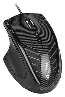 Мышка Intro MU208G Gaming USB, чёрная