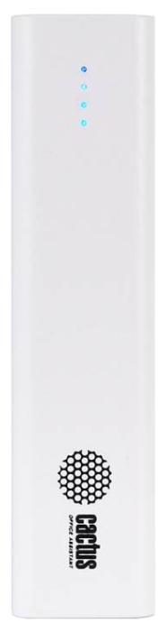 Аксессуар для телефона CACTUS Мобильный аккумулятор CS-PBAS120-2600 (2600 мAч), белый CS-PBAS120-2600WT