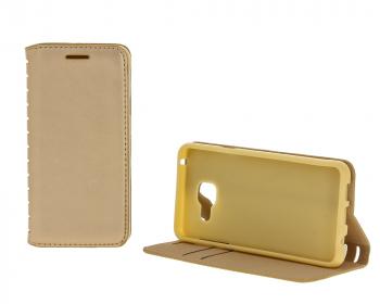 New-Case Book для Samsung Galaxy A3 (2016) с визитницей золотой