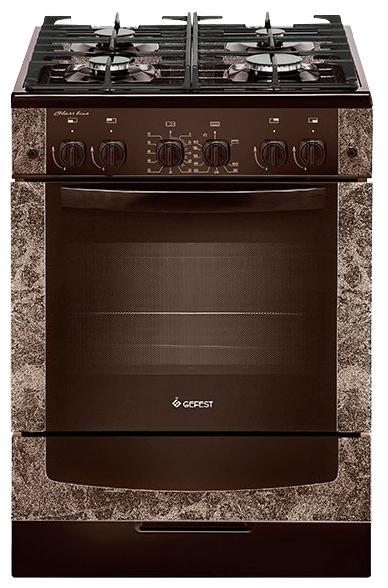 Плита GEFEST 6500-02 0114, коричневая