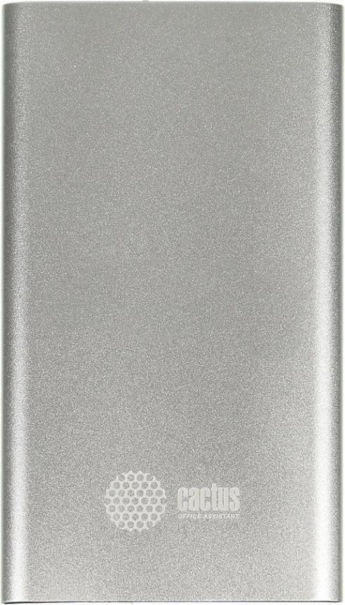 Аксессуар для телефона CACTUS Мобильный аккумулятор CS-PBA12-4000S (4000 мAч), серебристый