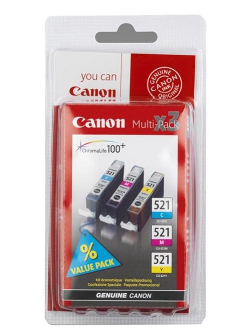 Картридж Canon CLI-521 C/M/Y (2934B010), мультиколор