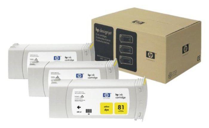 HP C5069A (тройная упаковка) желтый
