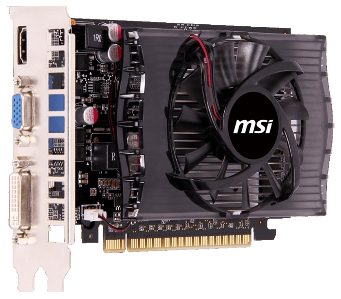 Видеокарта GeForce MSI GeForce GT 730 750Mhz PCI-E 2.0 4096Mb 1800Mhz 128 bit DVI HDMI HDCP N730-4GD3