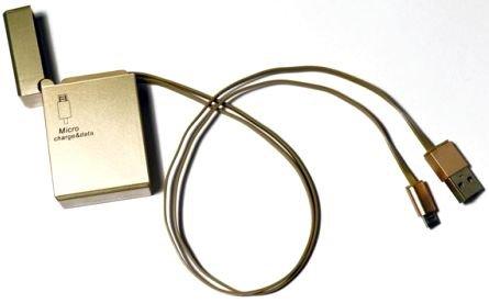 Кабель / переходник KS-IS KS-293G retractable, золотистый