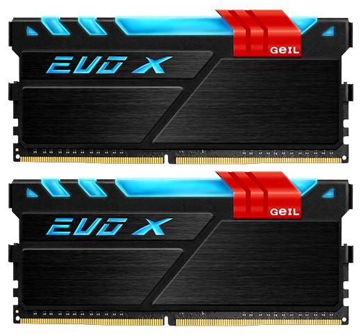 Модуль памяти Geil EVO X 2x16Gb DDR4, 2133MHz, CL15, DIMM (GEX432GB2133C15DC), чёрный