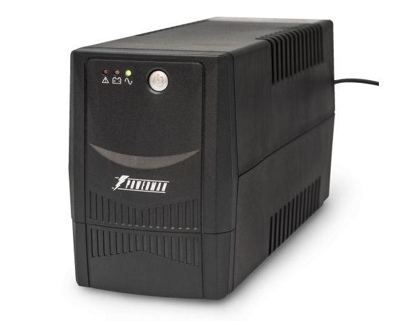 Источник бесперебойного питания PowerMan Back Pro 600 BA, черный