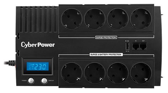 Источник бесперебойного питания CyberPower BR1200ELCD (1200VA/720W), черный
