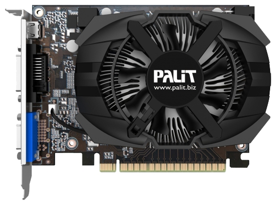 Видеокарта GeForce Palit GeForce GTX 650 1058Mhz PCI-E 3.0 1024Mb 5000Mhz 128 bit DVI Mini-HDMI HDCP