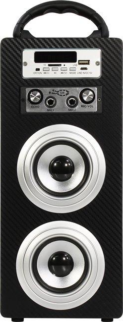 Портативная акустика KS-IS KS-306, черно-серебристая