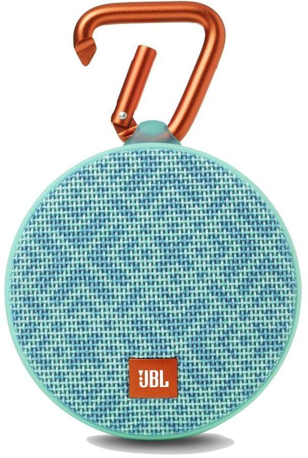 JBL Clip 2 Mosaic, бирюзовая с голубым