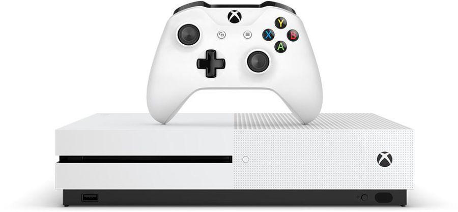 MICROSOFT Xbox One S с 1 ТБ памяти, игрой Battlefield 1 и подпиской Live на 3 мес., белая