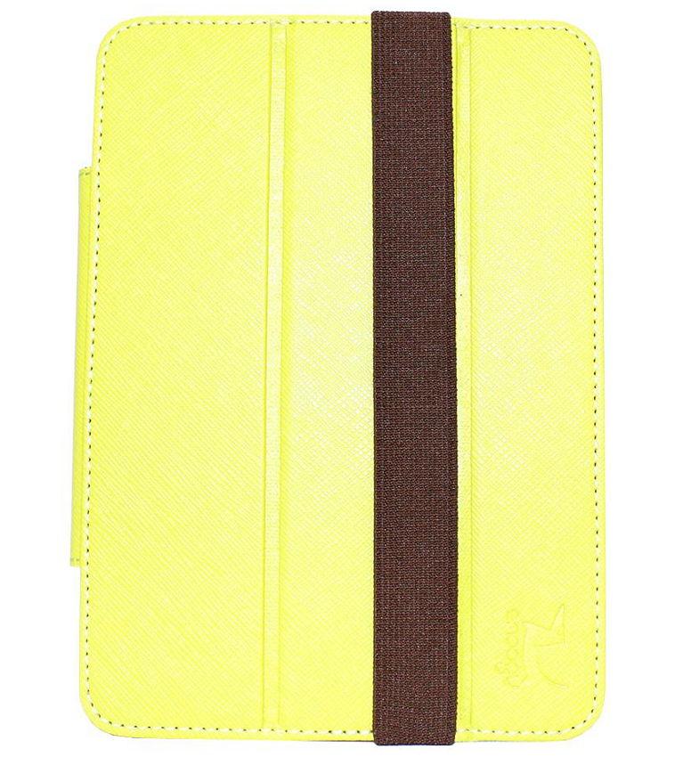 """Чехол для ebook Snoogy универсальный 6"""" двусторонний, жёлто-коричневый"""