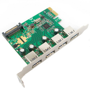 Контроллер Speed-Dragon Speed Dragon USB 3.0 PCI-E (4 ext USB3.0 with SATA Power connector) EU312B-2