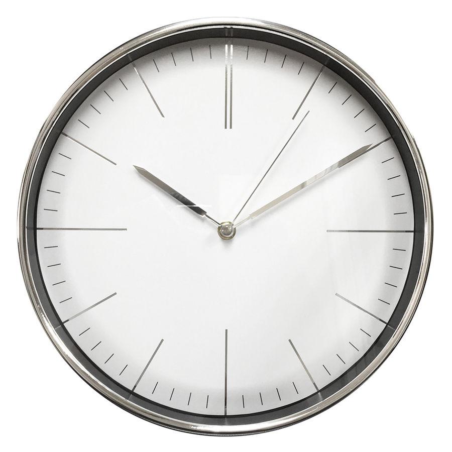 Часы интерьерные Byurokrat WallC-R28P, хром WALLC-R28P/CHROME
