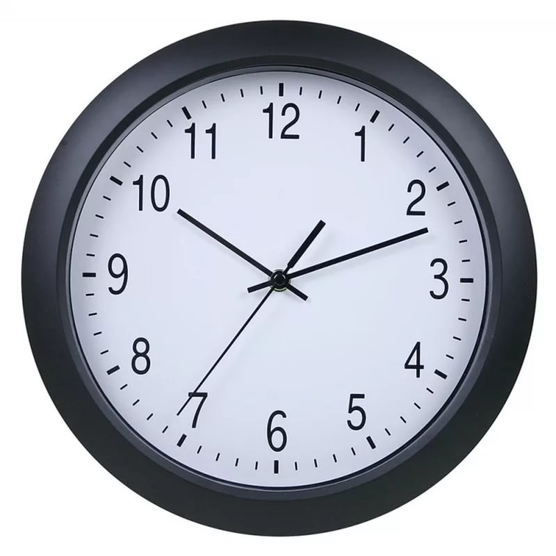 Часы интерьерные Byurokrat WallC-R02P, черные WALLC-R02P/BLACK