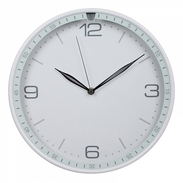 Часы интерьерные Byurokrat WallC-R06P, белые WALLC-R06P/WHITE