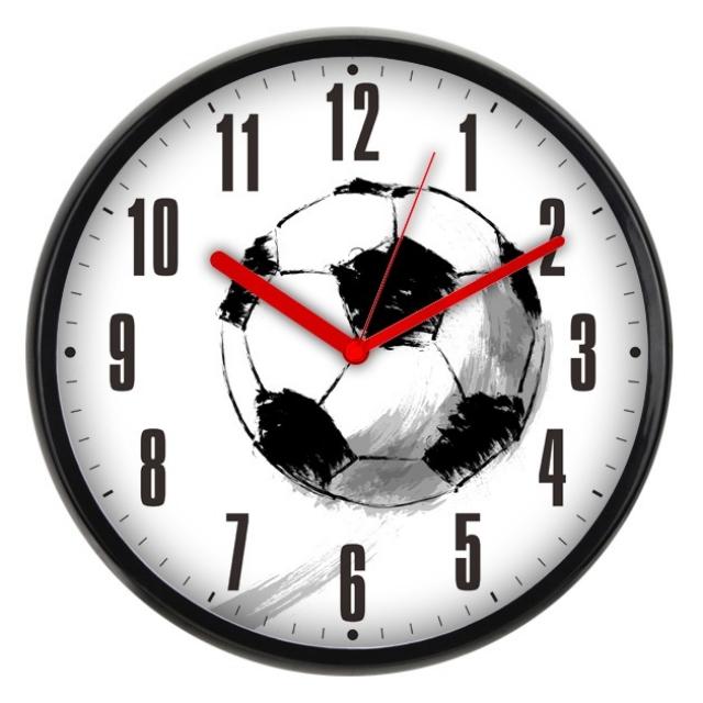 Часы интерьерные Byurokrat WallC-R29P, черно-белые WALLC-R29P/FOOTBALL