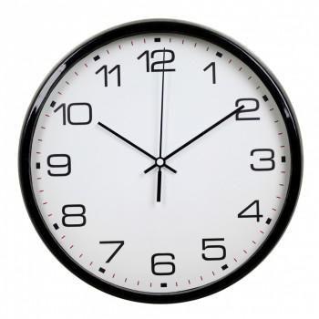 Часы интерьерные Byurokrat WallC-R07P, черные WALLC-R07P/BLAC