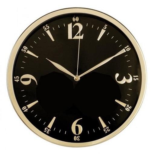 Часы интерьерные Byurokrat WallC-R25M, черные WALLC-R25M/BLACK