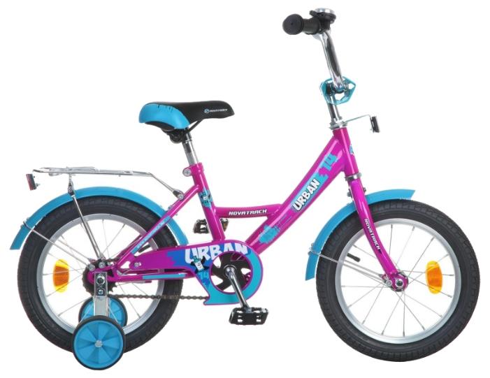 Велосипед Novatrack Urban 14 (2016), вишнёвый